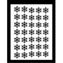 Samolepky na nehty vločka - černá 03