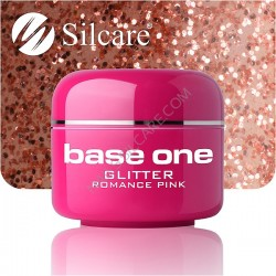 UV gel Base One Glitter 5 ml - Romance Pink