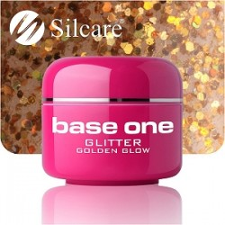 UV gel Base One Glitter 5 ml - Golden Glow