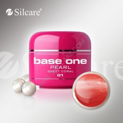 SILCARE UV gel Base One Pearl 5 ml - 01 Pearly Sweet Coral