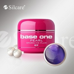 SILCARE UV gel Base One Pearl 5 ml - 07 Sparkling Plum