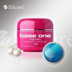 SILCARE UV gel Base One Pearl 5 ml - 13 Secret Turquoise