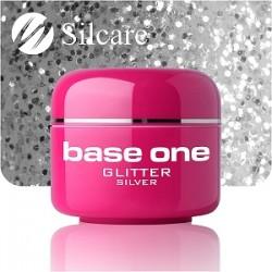 SILCARE UV gel Base One Glitter 5 ml - 05 Silver