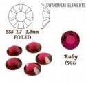 SWAROVSKI ELEMENTS velikost SS5 barva RUBY (501) . Balení 45Ks
