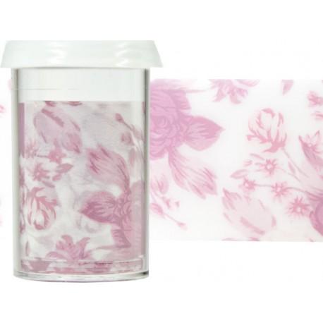 TRANSFER FOIL - nailartová dekorační folie 1,5m - GARDEN ROSE