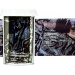 TRANSFER FOIL - nailartová dekorační folie 1,5m - WHITE SILK