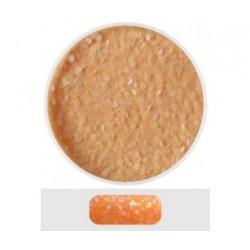Glitterový akryl pudr 5 ml č.10 - oranžový s holografickými
