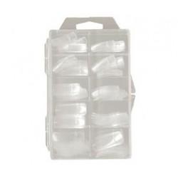 Nehtové tipy transparentní rovné BOX 100 ks