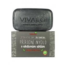 Toaletní přírodní mýdlo s aktivním uhlím