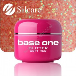 UV gel Base One Glitter 5 ml - Soft Red