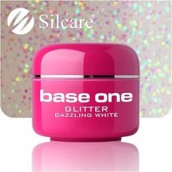 UV gel Base One Glitter 5 ml - Dazzling white
