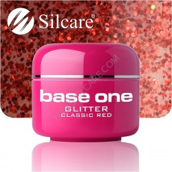 UV gel Base One Glitter 5 ml - Classic Red