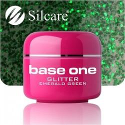 UV gel Base One Glitter 5 ml - Emerald Green