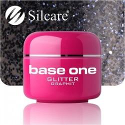 SILCARE UV gel Base One Glitter 5 ml - 10 Graphit