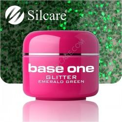 SILCARE UV gel Base One Glitter 5 ml - 23 Emerald Green