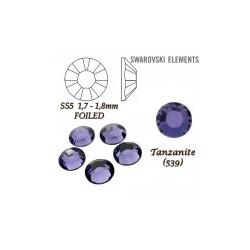 SWAROVSKI ELEMENTS velikost SS5 barva TANZANITE (539). Balení 45Ks